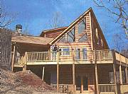 International real estates and rentals: Brand New 2,400 S.F. Log Cabin In The Blue Ridge Mountains